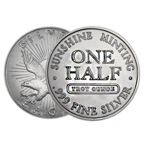 Buy 1/2 oz Sunshine Mint Silver Round from Lakeshore Trading