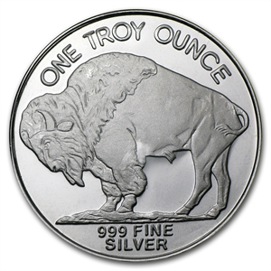 Buy 1 oz Silver Buffalo Round from Lakeshore Trading