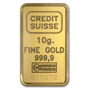 Buy 10 gram Credit Suisse Gold Bar from Lakeshore Trading