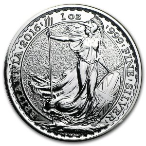 Buy 1 oz Great Britain Silver Britannia coin from Lakeshore Trading